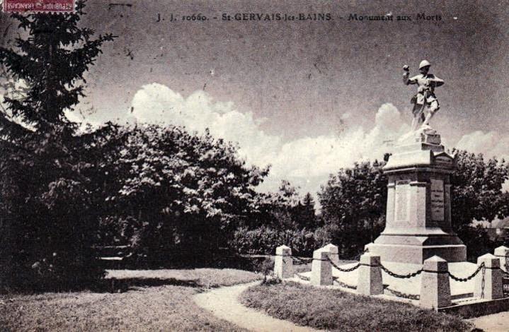 Monument aux morts de Saint-Gervais-les-Bains, commune voisine de Passy (Site lycees.ac-rouen.fr et site panoramio.com)