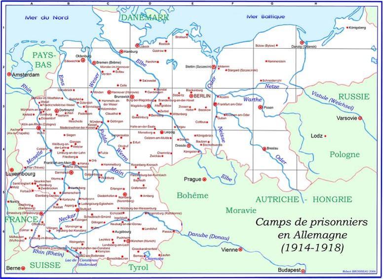 Camps de prisonniers en Allemagne, par Robert Broisseau, 2006 (Site genealexis.fr)