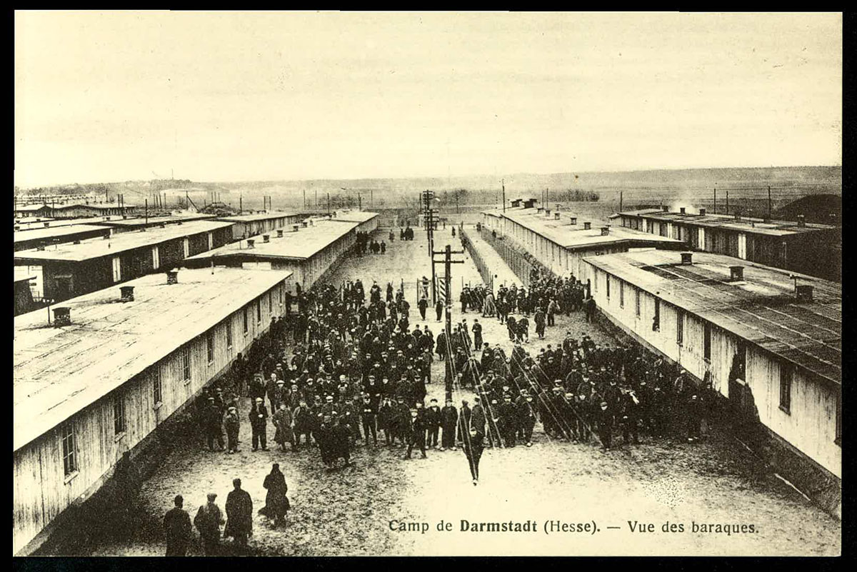 Darmstadt, Hesse. Vue des baraques (CICR, Allemagne, n°2) site du CICR