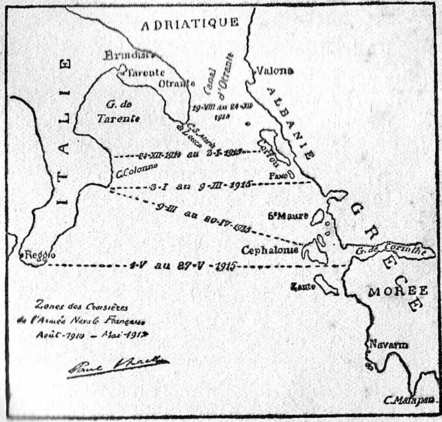 Zone des croisières de l'Armée navale française, août 1914-mai 191… (site ville-brasparts.forum-actf.net)