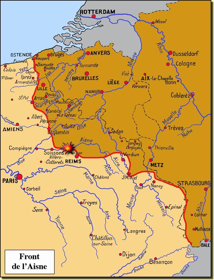 Front de l'Aisne en 1917 (site medailles1914-1918.fr)
