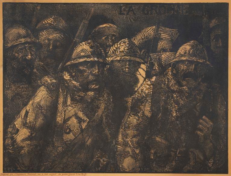 Léon Henri Ruffé, peintre et graveur français (1864-1951) « La grogne 1914-19... » (site cartablevirtuel.u-paris10.fr)