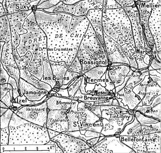 Rossignol, Jamoigne (site chtimiste.com, page combats de Rossignol, 22 août 1914)