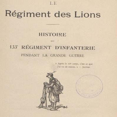 Historique du 133e RI (Site gallica.bnf.fr)