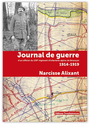 Couverture du livre de Narcisse ALIXANT, Journal de guerre (site transhumances.com)