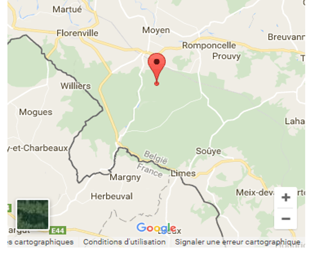 Bois de la Houdrée, Margny, Herbeuval (Source : Google)