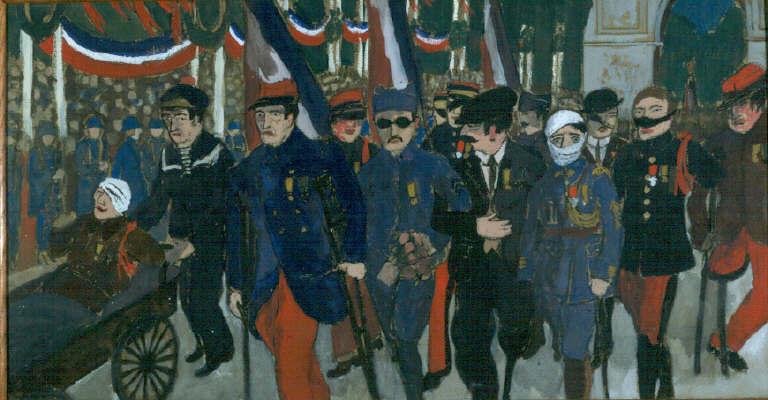 Jean Galtier-Boissière : Défilé des mutilés, 14 juillet 1919. Musée d'Histoire contemporaine, Paris (site cndp.fr)