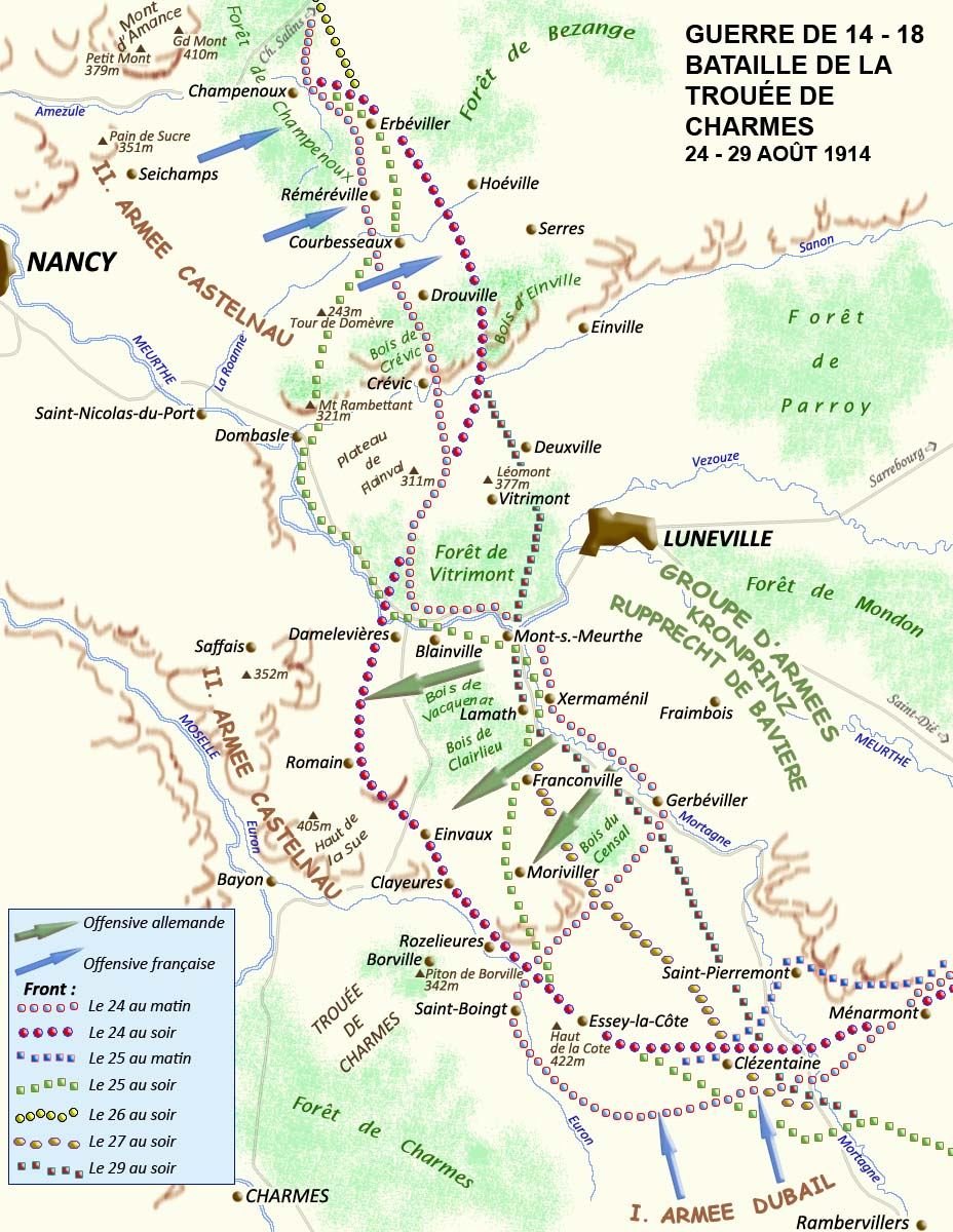 ataille de la Trouée de Charmes, 24-29 août 1914 ; Rozelieures (site crdp-strasbourg.fr)