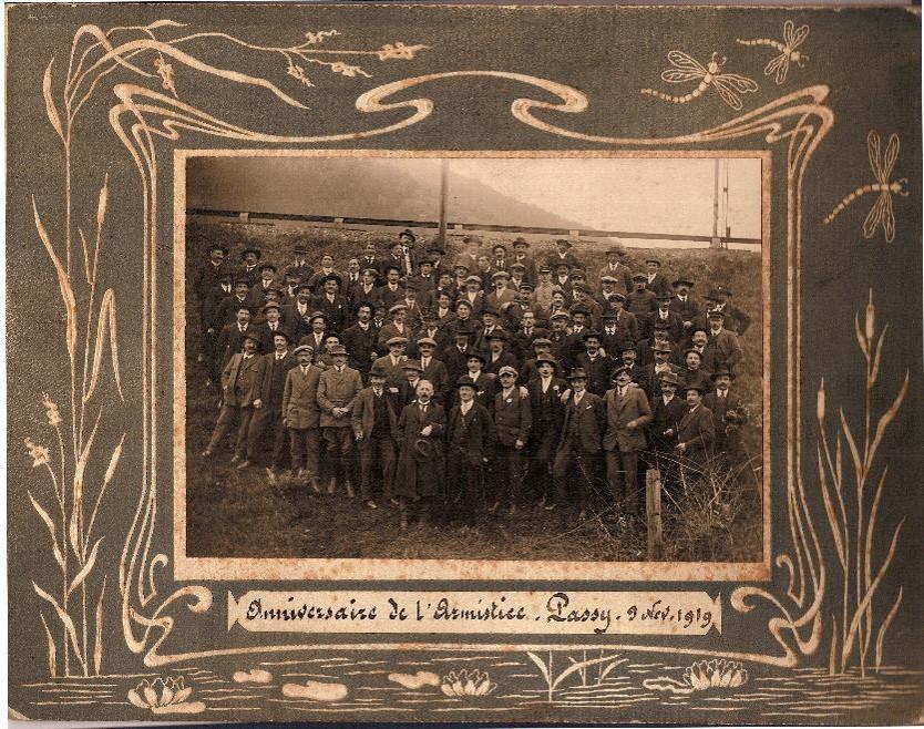 Anniversaire de l'Armistice. Passy, 9 novembre 1919 (Document famille Devillaz, Passy)
