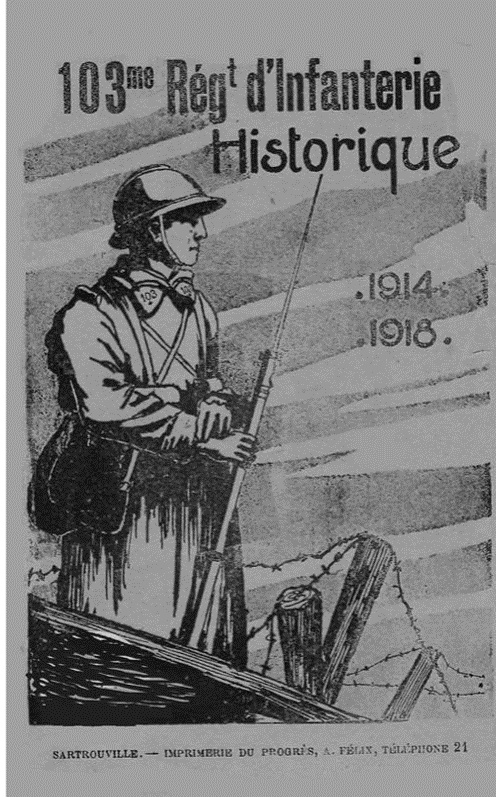 Historique du 103e RI : couverture