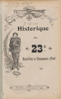 Historique du 23e BCAP : couverture