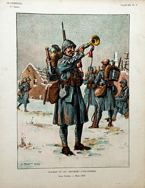 Clairon du 140e Régiment d'Infanterie 1916 (site soldaademohler.fr)