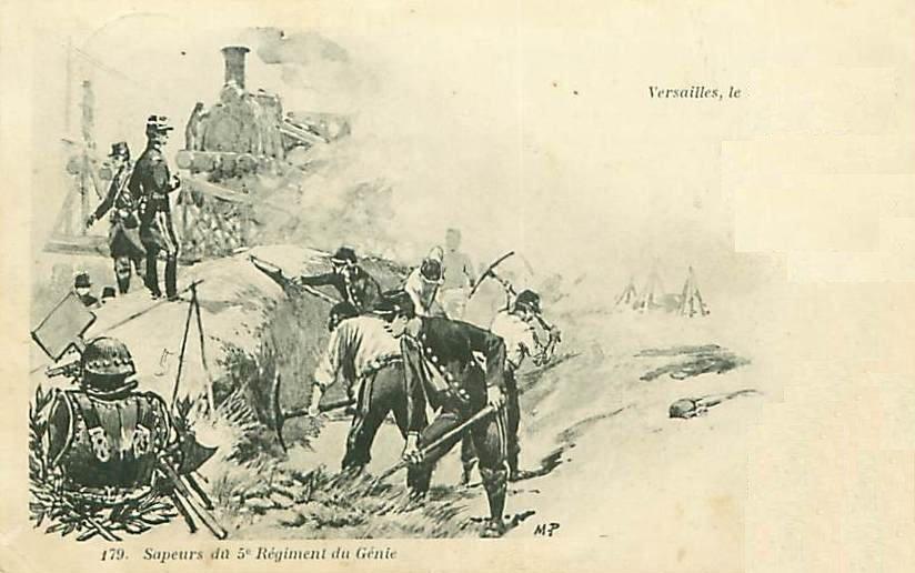 Sapeurs du 5e Régiment du Génie (site pontoizeaufred.free.fr)