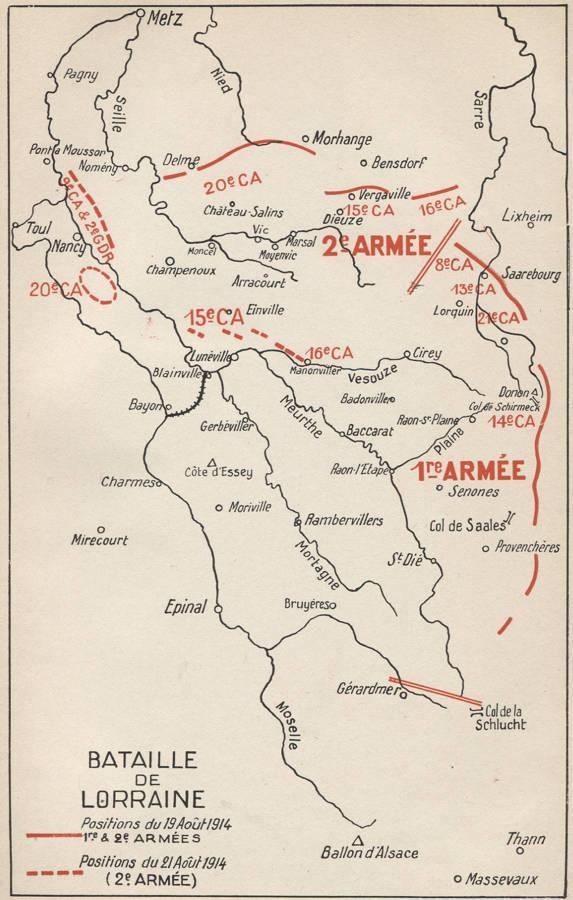 Manonviller, sur la Vezouze ; Cirey (Site rosalielebel75.franceserv.com, page bataille des frontières)