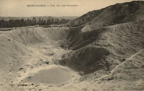 Entonnoirs à Berry-au-bac, cote 108 (site souterrains.vestiges.free.fr)