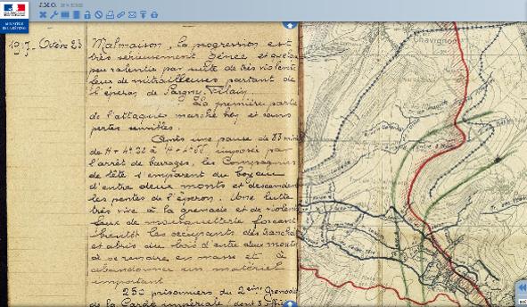 Extrait du JMO du 67e BCA, 23 octobre 1917